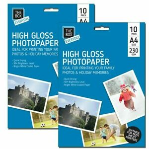 20 Sheets Premium Glossy High gloss Photo Paper A4 Inkjet Printer230GSM Picture