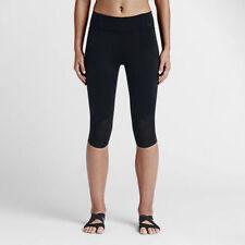NEW Nike Womems Motion Training Legging Capri - 743196 010 - Black - Medium $110