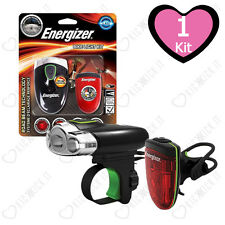 Torcia per Bicicletta Energizer Bike Light Kit Luce Frontale e Posteriore a Led