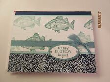 Man / Guy Happy Birthday Handmade Card - Fish - using Stampin' Up products