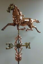 Beautiful large 3-d Running Horse Weathervane -5'' Wide ! Complete as shown.