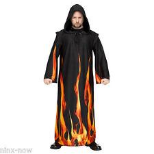 Wizard Hooded Burning Robe Devil Demon Halloween Costume