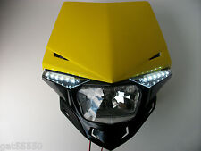 Ufo Yellow Road Legal Headlight Enduro Streetfighter Motorcycle Rmz Drz Dr Gsx