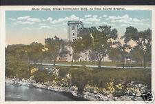 America Postcard - Store House, Rock Island Arsenal, Illinois 1899