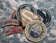 US EMBASSY BAGHDAD/KABUL STATE DEPT WPS CONTRACTOR ELITE TEAM 8-VELCRO-SSI SET