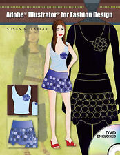 ADOBE ILLUSTRATOR FOR FASHION DESIGN BOOK & DVD By Susan Lazear **BRAND NEW**