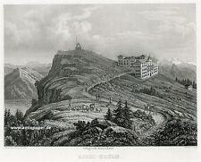 Righi Koulm Gesamtansicht i. H. Zug Aquatinta von Weber nach Winterlin ca. 1865