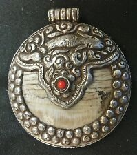 PENDENT NAGA COQUILLAGE ARGENT SILVER SHELL INDIA