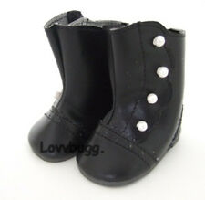 Black Victorian Boots Colonial for American Girl 18inch Doll Shoes LOVVBUGG 🐞