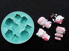 Silicone Mould HELLO KITTY Sugarcraft Cake Decorating Fondant / fimo mold
