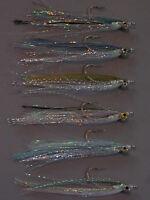 6 diff BAITFISH Polarflash Clouser Minnows - saltwater freshwater flies