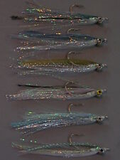 6 diff BAITFISH Polarflash Clouser Minnows - saltwater freshwater flies
