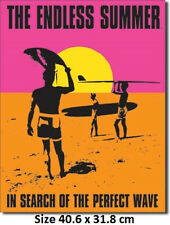 The Endless Summer 1964 Surfing Poster  Metal Tin Sign 1137 Made in USA
