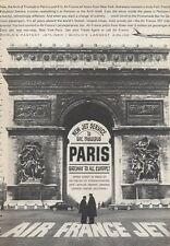 1960 Air France Airlines PRINT AD To Gay Fabulous Paris Great detailed vintage