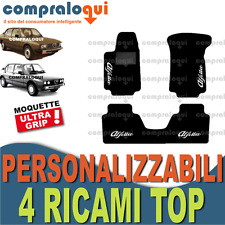 TAPPETI per ALFA ROMEO ALFETTA MOQUETTE SU MISURA + SCEGLI 4 DECORI TOP RICAMATI