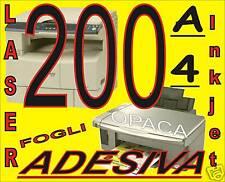 Carta adesiva opaca x stampante laser e inkjet A4