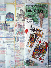 NEW-'05 MAP of LAS VEGAS, Nevada-MapEZ Guide w/Downtown & Grand Canyon Details