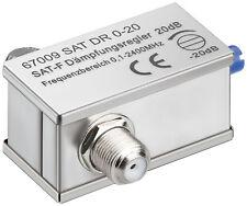 Atenuador variable, 0-20 DB, f-kupplg f-kupplg 0,1 -2400MHz