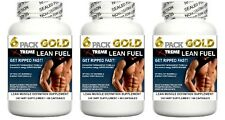 3 Strong Lean Muscle Pills X Growth Builder Abs Fat & Cortisol Loss Workout Aid