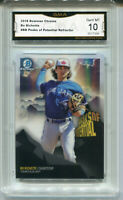 2018 Bo Bichette Bowman Chrome Peaks of Potential Rookie Gem Mint 10 #BB