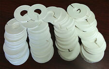 Plastic White Clothing Round Rack Size Dividers Lot of 500