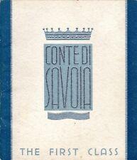 Deluxe 1932 CONTE DI SAVOIA 1st Cl. Interiors Brochure-NAUTIQUES sHiPs WORLDWIDE