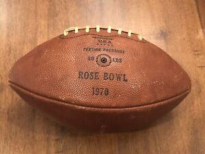 Game Used 1970 USC Trojans Rose Bowl Game ball worn Jersey Michigan Wolverines