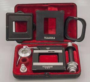Rollei Rolleiflex Rolleicord 3.5 2.8 Rolleikin 2 TLR Camera 35mm Film Adapter