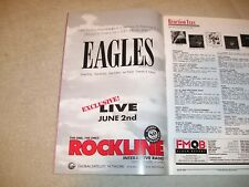 The Eagles - 1994 Us Full-Page Ad Rockline Radio Show June 2 (Fmqb Magazine)