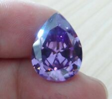 Unheated 18.12ct AAAAA Purple Sapphire 13x18mm Pear Diamonds Cut VVS Loose Gems
