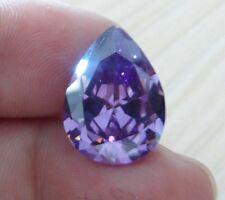 13x18mm AAA Purple Sapphire 18.15ct Pear Faceted Cut VVS Loose Gemstone
