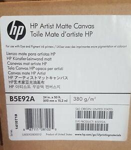 (BRAND NEW)Hp B5E92A Artist Matte Large Format Printer Canvas