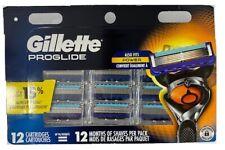 Gillette Fusion5 ProGlide Men's Razor Blades (Also Fits Power), 12 Blade Refills