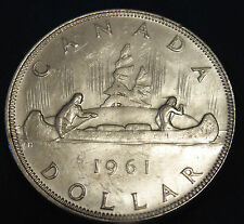 1961 CANADA Canadian SILVER DOLLAR  great birthday gift AU