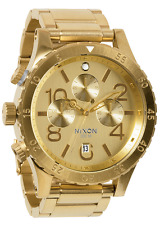 New Authentic Nixon Watch Mens 48-20 Chrono All Gold A486-502 A486502
