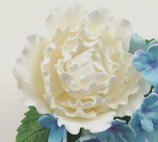 White Curl Peony Sugar flower wedding birthday cake decoration topper