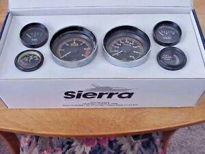 Used Sierra 68363P Amega Domed 6-Gauge Inboard Sterndrive Gauge Set