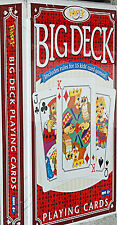 "FUNDEX Big Deck Playing Cards Size 4.5"" x 7"" Big Brand New Sealed"