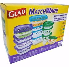 Glad Matchware Food Containers Microwave/Dishwasher/Freezer BPA Free - 28 Pc Set