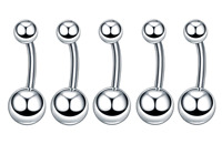 TITANIUM Micro Curved Barbell Small Belly Bars Genital Piercing Eyebrow Rook Bar