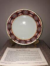 Danbury Mint President James Madison White House Bavaria China Collector Plate