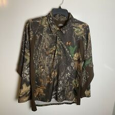 Under Armour 3 Button Down Polo Pull Over Mossy Oak Break-up Size Large