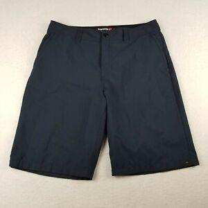 "QuikSilver Blue Bermuda Amphibian Shorts Size 32 10"" Ins Flat Front Swim Mens"