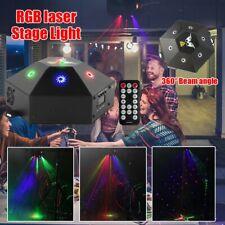 20W Rotating Laser Muster Projektor Bühnenlicht RGB DMX Disco Party Show Remote