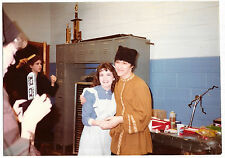 Vintage 80s PHOTO Girl w/ Flash Camera Taking Pic Of Young Couple In Costumes
