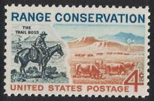 "Scott 1176- Range Conservation, ""The Trail Boss""- MNH 4c 1961- unused mint stamp"