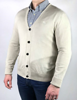 BURBERRY BRIT men's beige nova check cotton cardigan sweater | Size S