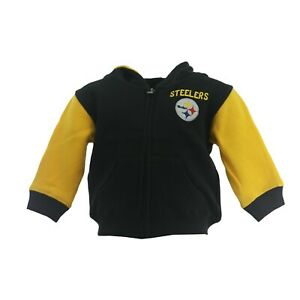 Pittsburgh Steelers Official NFL Baby Infant Toddler Size Full Zip Sweatshirt