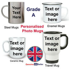 PERSONALISED MUG, PHOTO MUG, CUSTOM DESIGN YOUR OWN MUG, TEXT IMAGE LOGO GIFT