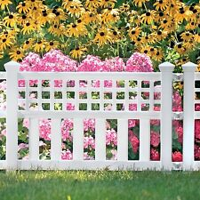 Outdoor Garden Fencing Fence Plastic Panels Panel 3 Pc Set Patio Yard Lawn Edges
